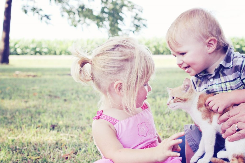 Pet are good friends to your kids